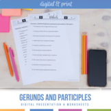 Gerund vs. Participle Bundle