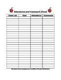 Get Organized! Attendance and Homework Check