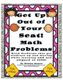 Get Up Out of Your Seat! Math Problems