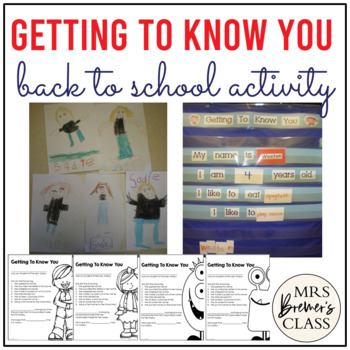 Getting To Know You Forms {A Back to School Activity}