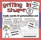 Getting in Shape – 2-D geometry task cards + printable set
