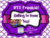 FREE Getting to Know You- Classroom or Hallway Hunt Back t