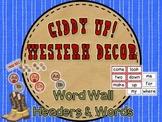 Giddy Up! Western Themed Word Wall Headers & 220 Word Wall