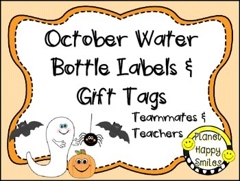Planet Happy Smiles Gift Tags and Mini Water Bottle Labels FREEBIE