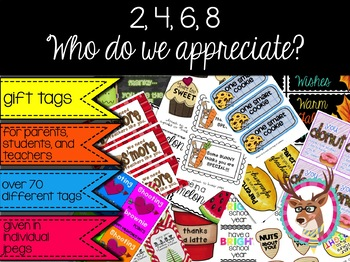 Gift Tags for students, teachers, parents, and friends