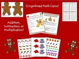 Gingerbread Christmas Math Game