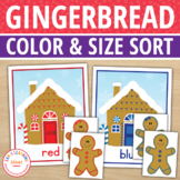 Gingerbread Color Match and Size Sorting Activity for Pres