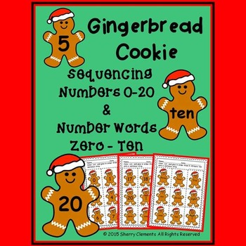 Gingerbread Cookie - Numbers (0-20) and Number Words (zero