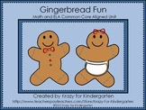 Gingerbread Fun Math and ELA Common Core Aligned Unit