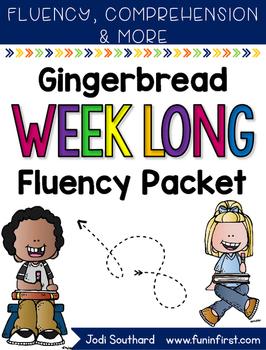 Gingerbread Weeklong Fluency Packet