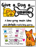 Give a Dog a Bone- Identifying Main Ideas and Details Game