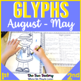 Glyphs for Every Month of the School Year {Interactive!} P