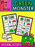 """""""Go Away, Big Green Monster!"""" - Matching Activities"""