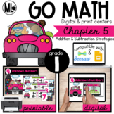 Go Math! Chapter 5 Centers for First Grade