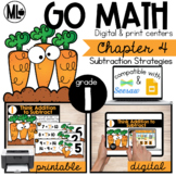 Go Math! Chapter 4 Centers for First Grade