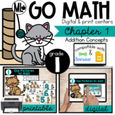 Go Math! Chapter 1 Centers for First Grade
