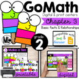 Go Math! Chapter 3 Centers for Second Grade