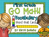 Go Math Vocab Word Wall Cards {All 62 First Grade Words}{C