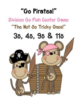 Division Go Fish Center Game - Go Pirates - Not So Tricky