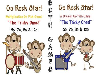 Multiplication and Division Go Rock Star Go Fish Games Tri