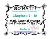 GoMath!(1st grade)FLA CC Ch. 7-12 Journal Prompts & Proble
