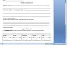Goal Setting Sheet