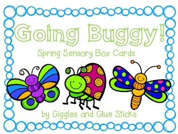 Going Buggy! Spring Sensory Box Cards for Little Learners (Freebie!)