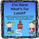 Attendance and Lunch Count for SMARTboard (fully animated