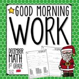 Good Morning Work - Math - December (1st Grade)