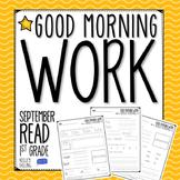 Good Morning Work - Reading - September (1st Grade)