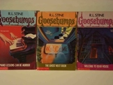 Goosebumps by R.L. Stine: 3 Different Paperback Novel Titles-Used