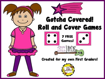 Gotcha Covered: First Grade Rocks! (Roll and Cover Game)