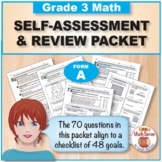 Grade 3 CCSS Math Self-Assessment and Review Packet ~ Form A
