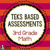 Grade 3 TEKS Based Math Assessments and Student Data Graphs