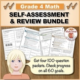 Grade 4 Math Self-Assessment and Review BUNDLE, Forms A-D