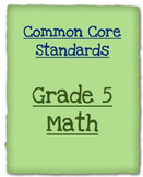 5th Grade Common Core Math