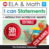 Grade 5 I Can Statements for Common Core Math and ELA