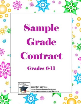 Grade Contract {FREE}