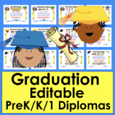 Graduation Diplomas-K-Pre-K-Gr.1-Ready To Edit
