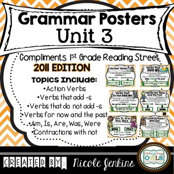 Grammar Posters Reading Street Unit 3 - 2011 Version
