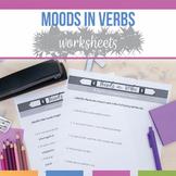 Moods in Verbs Worksheet