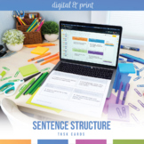 Types of Sentences Task Cards, Part I