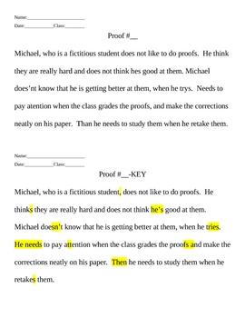Grammar/Editing practice