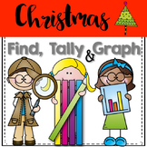 Graphing: Find, Tally and Graph- Christmas