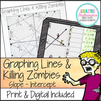 Graphing Lines & Zombies ~ Slope Intercept Form