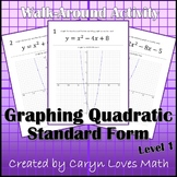 Graphing Quadratic Equations Walk-around Activity- Level 1