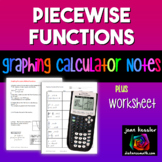 Graphing a Piecewise Defined Function on TI 83 - 84  plus