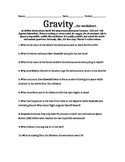 Gravity Movie Worksheet