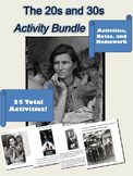 Great Depression - 20s and 30s Activities