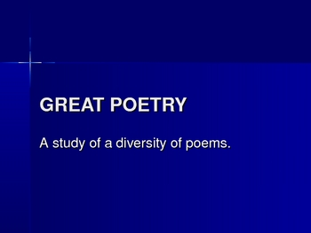 Great Poetry